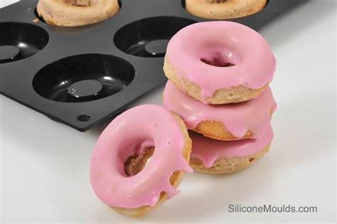 Silicone Donuts Mold 8 cell mini doughnut donut rum baba silicone cake