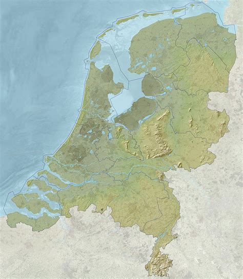 netherlands mountains map map of the netherlands maps of the provincies