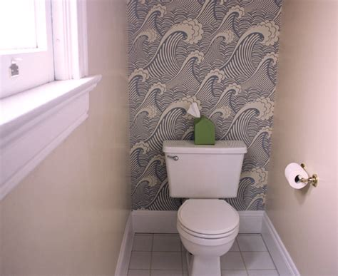 Removable wallpaper in the bathroom how about orange