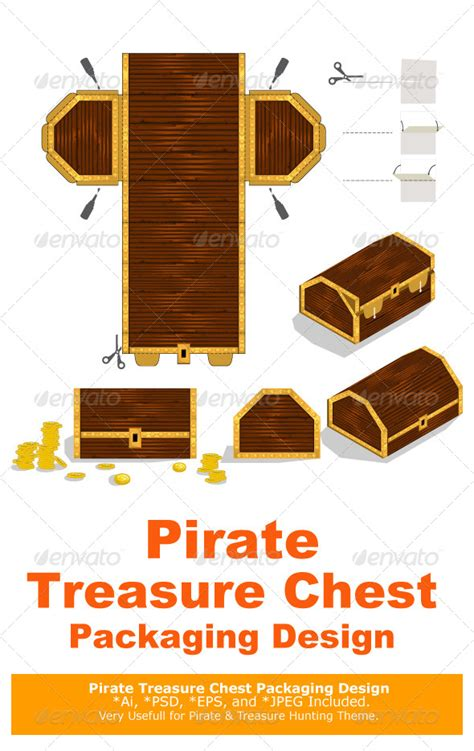 treasure chest packaging box design by branca escova