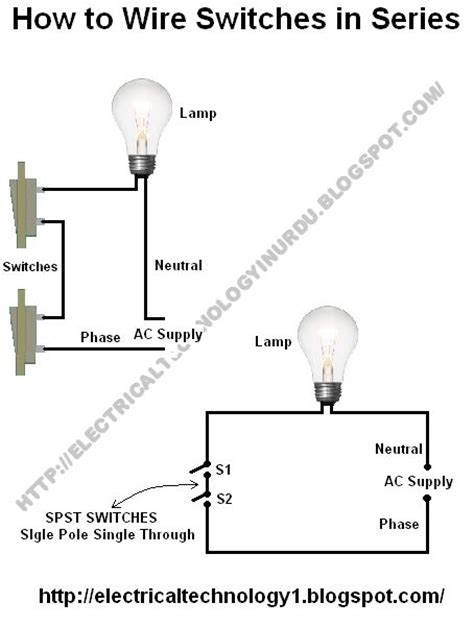 wire switches  series wire switch light switch wiring bulb
