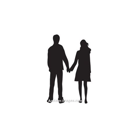couple clipart couple holding hand pencil and in color