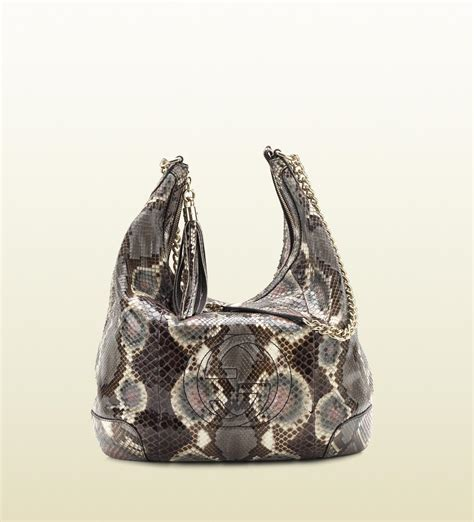 Gucci Python Bag by Gucci Soho Python Shoulder Bag With Chain In Animal