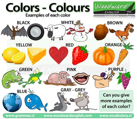 color vocabulary colours colors in vocabulary los colores en ingl 233 s