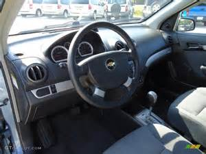 charcoal black interior 2007 chevrolet aveo ls sedan photo