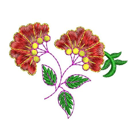 embroidery design in flower decorative flower embroidery design