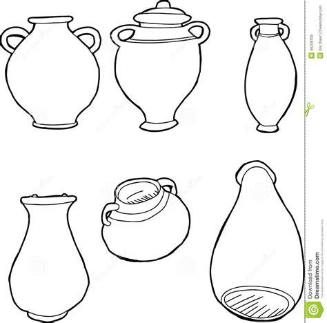 disegni vasi greci vasi greci descritti illustrazione vettoriale immagine