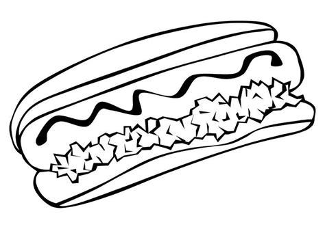 chicken sandwich coloring page malvorlage hot dog ausmalbild 10234