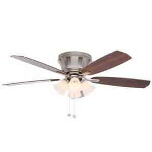 hton bay hollandale 52 in brushed nickel ceiling fan