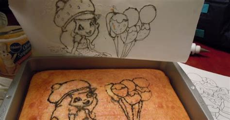 transfer coloring page to cake diy transfer of any traced picture or coloring book page