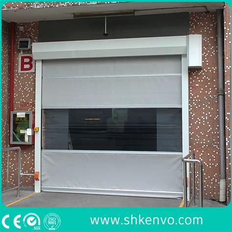 canvas garage doors china industrial automatic high speed pvc fabric roll up