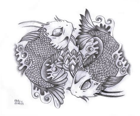 yin yang fish tattoos designs koi yin yang designs