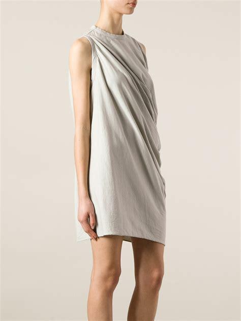twist drape dress rick owens lilies jersey twist drape dress in gray lyst