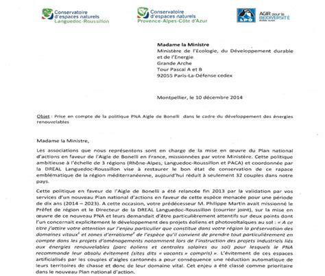 Modele De Lettre Administrative Au Ministre Lettre 224 Madame La Ministre De L Ecologie Www