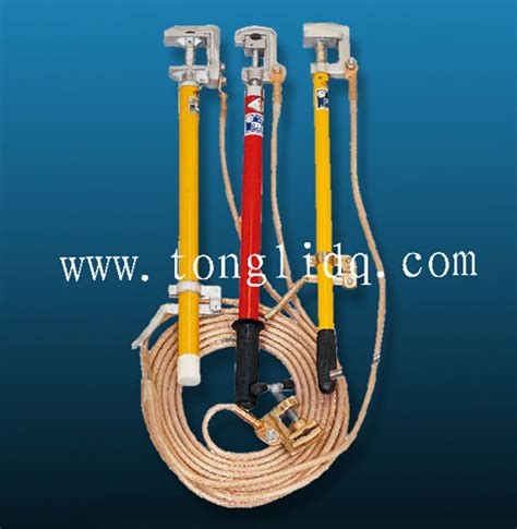 high voltage portable earthing equipment portable ground earth rod set with earthing wire and cl