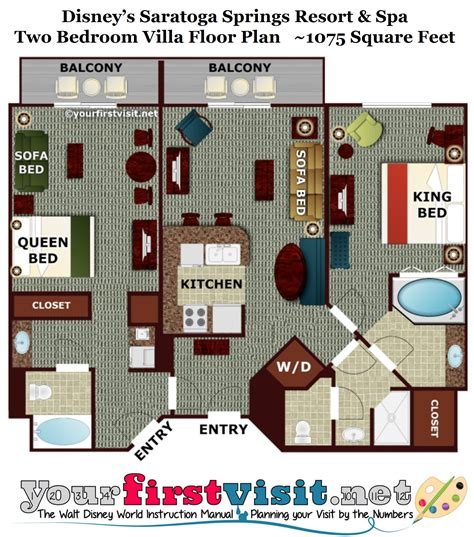 disney world floor plans saratoga springs two bedroom villa floor plan meze blog