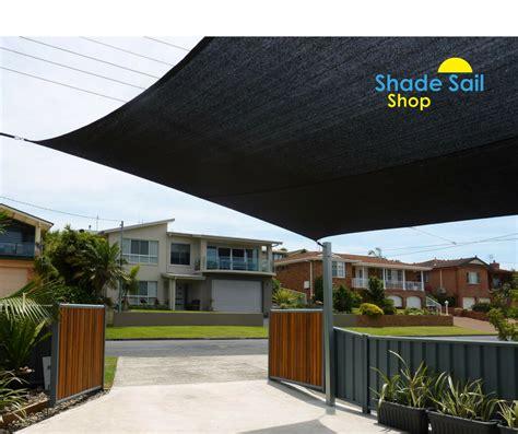 easy to install 4 m x 8 m black shady lady shade sails
