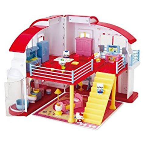 hello kitty wooden dolls house amazon com hello kitty doll house toys games