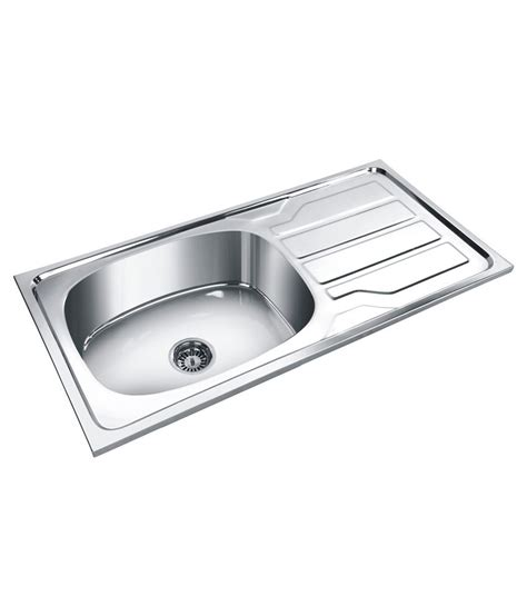 buy deepali stainless steel kitchen sink single bowl with
