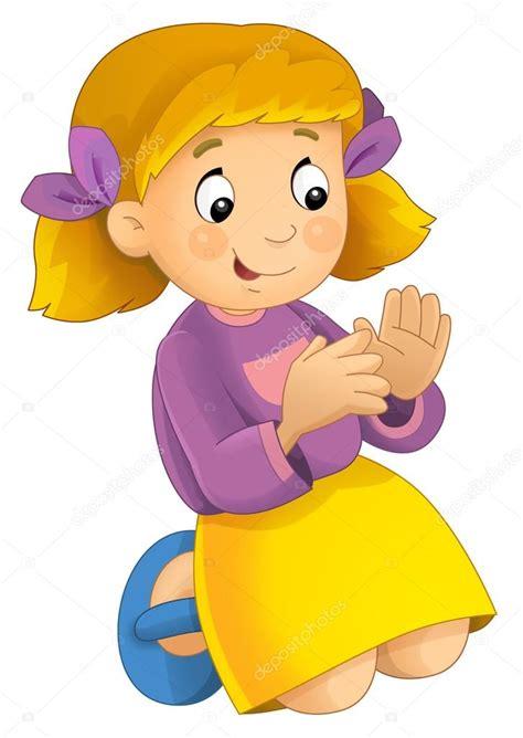 imagenes animadas de una niña dibujos animados ni 241 a divirti 233 ndose foto de stock