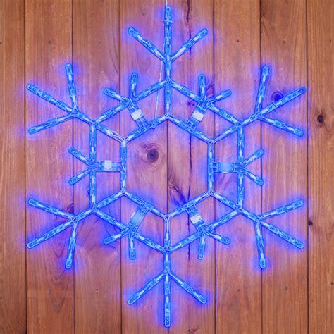 snowflakes stars 36 quot led folding blue snowflake