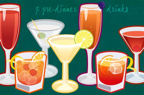 dinner drinks 7 pre dinner drinks illustrations on creative market