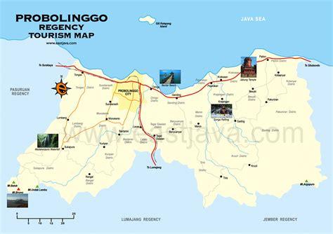 probolinggo tourism map map  probolinggo peta