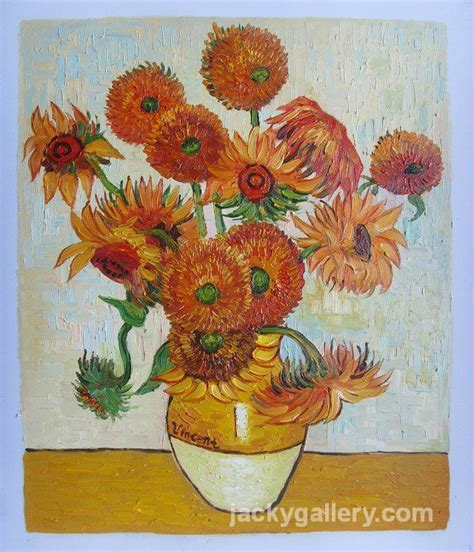 Gogh Vase With Fifteen Sunflowers by Vase With Fifteen Sunflowers Vincent Gogh High