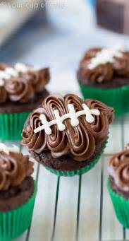easy football cupcakes with your cup of cake