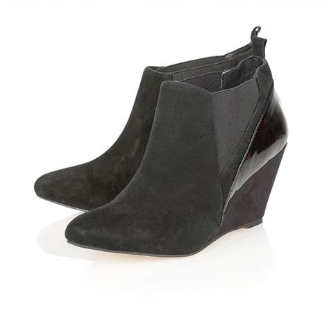 Wedge Ankle Boots buy ravel indiana wedge ankle boots in black