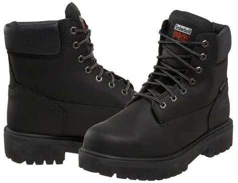 timberland black steel toe boots