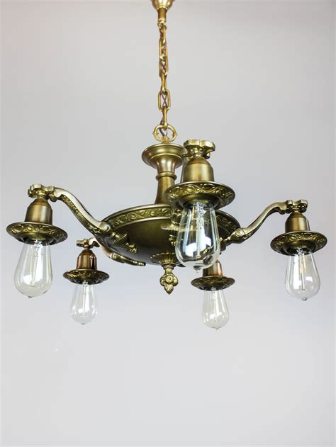 Artistic Light Fixtures Nouveau Bare Bulb Light Fixture 5 Light