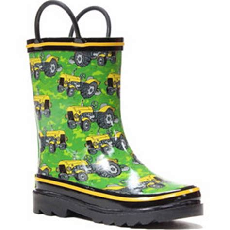 rubber boots at tractor supply western chief little boy s tractor ride rain boot at