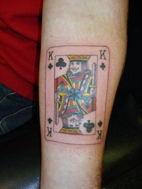 playing card tattoos designs 27 king card tattoos
