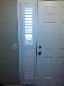 blinds for sidelight windows sidelight front door window treatments using shutters