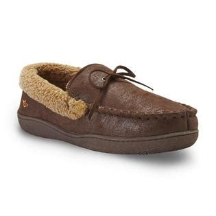 dockers moccasin slippers dockers s bomber brown moccasin slipper