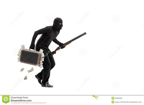 Running For Office With A Criminal Record Criminal With Briefcase Of Stolen Money Stock Photo Image 50284655