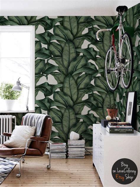 fotos auf tapete kleben banana leaf wallpaper banana leaves drawing tropical