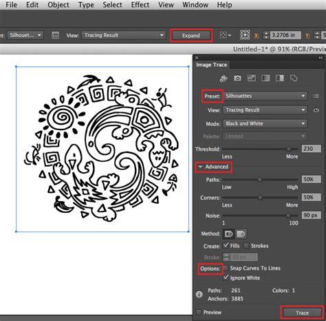 tutorial illustrator trace image trace i adobe