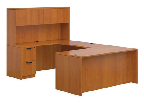Inexpensive Office Furniture U Shaped Desk With Hutch Affordable Office Furniture