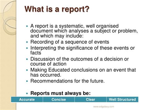 writing information reports