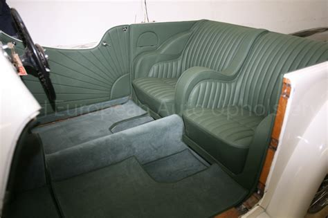 Automotive Upholstery Classes by Gallery Jaguar Ss1 Green Interior K H European Auto