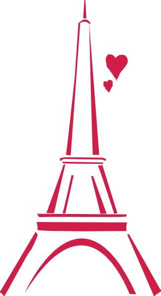 wallpaper bergerak menara eiffel love paris pink clip art at clker com vector clip art