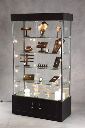 Lighted Tower Display Case   Display Cabinet   Lighted