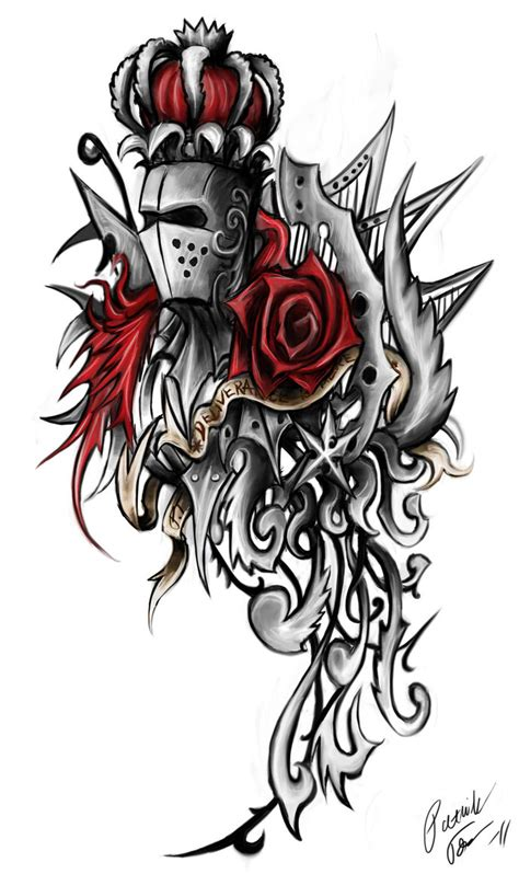 knight times tattoo ornament by patrike on deviantart