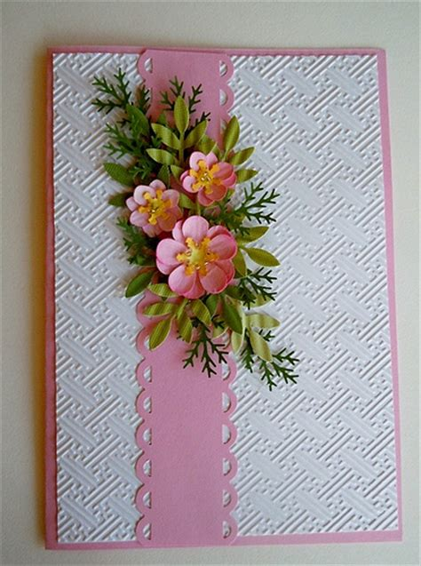 Special Handmade Cards - paper punch floral card flickr photo