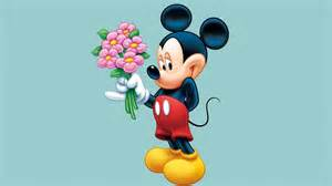 mickey mouse desk mickey mouse with a bouquet of flowers for desired desktop