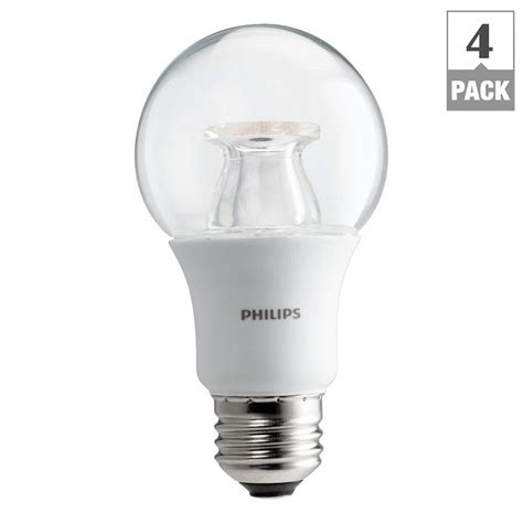 philips warm white led lights philips 60w equivalent soft white clear a19 dimmable led