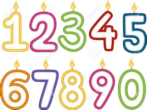 clipart numeri birthday numbers free clip cliparts