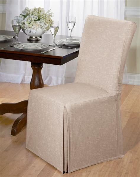 chambray cotton dining chair slipcover contemporary